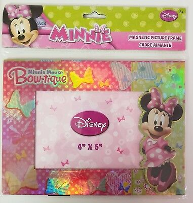 """Minnie Mouse Bow-tique Magnetic Picture Frame, Holds 4"""" x 6"""" Photo"""