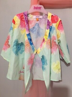Baby Girls Designer Ted Baker Lightweight Floral Summery Kimono Cardigan 18-24m