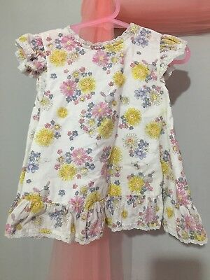 Lovely Baby Girls Mothercare Floral Bunny Summer Blouse Top 18-24m🌸 playwear