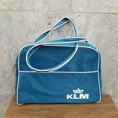 VINTAGE KLM AIRLINES ROYAL DUTCH AIRLINE Flight Bag / Handbag NEW