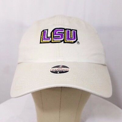 the best attitude d827e a6b0c LSU Tigers Fitted Dad Hat NCAA Louisiana State University Cap Large  Deadstock