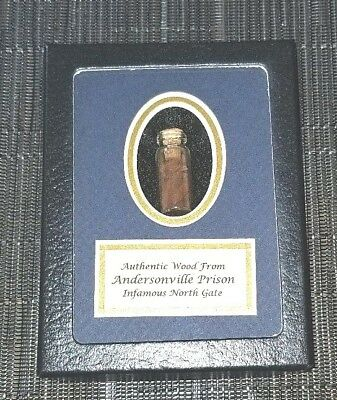 Authentic Witness Wood From Andersonville Prison In Collectors Glass Case