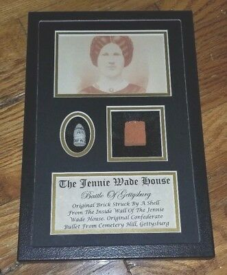 Original Jennie Wade House Brick and Bullet In Collectors Case - Gettysburg PA