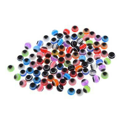 100* DIY 6mm Oval Eyes For Doll Bear Making Plush Soft Animal Toy Accessories
