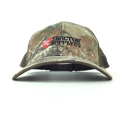 8ebe5404dd3 Tractor Supply Co Company TSC Tree Camo Trucker Hat Cap Adj. Men's Size