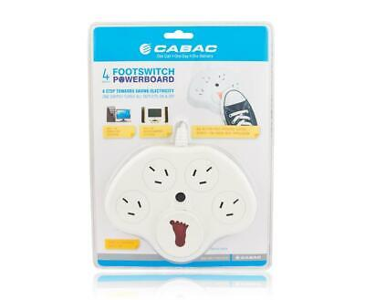 Cabac Power Board Surge Protected 4 Way With Foot Switch