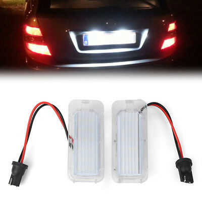 2PCS LED License Plate Number Lights Lamp for Ford Focus 5D Mondeo MK4 C-Max