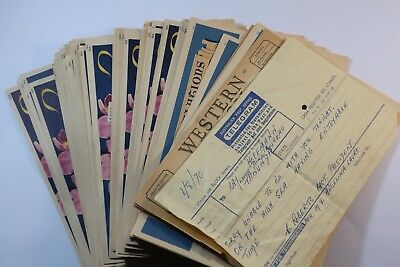 Bulk lot of 116x 1940's telegrams. Vintage orchid and greetings SNK917