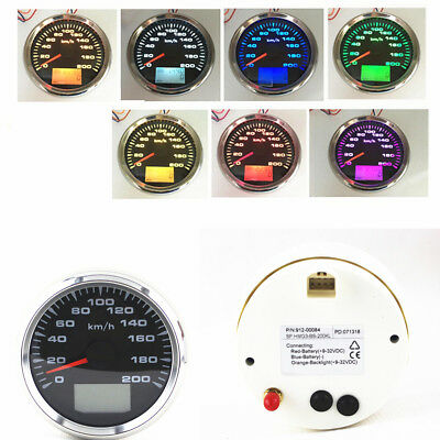 7 Colors Backlight LCD Speed Odometers GPS Speedometer Odometers 9-32V Universal