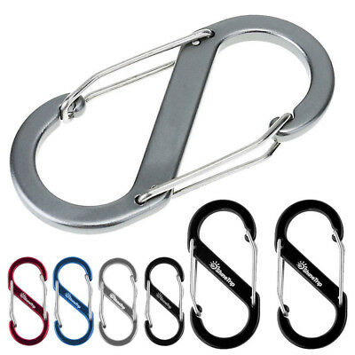Carabiner S-Ring Camp Snap Clip Hook Buckle Keychain Keyring Hiking Climbing Hot
