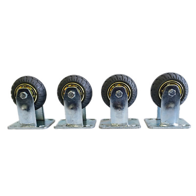 "4 x Fixed Caster Wheels- 4""/100mm, Super Heavy Duty, 800KG Load Capacity"