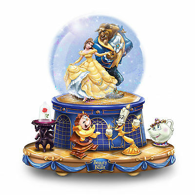 Disney BEAUTY AND THE BEAST Rotating Musical Glitter Globe NEW