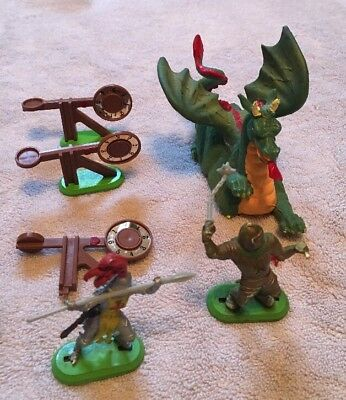 Vintage Britain Mini Action Figures Dragon And Knights