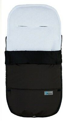 Altabebe Footmuff with Sympatex Fabric Black White