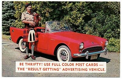 1959-63 SUNBEAM ALPINE Convertible Advertising Promotional Postcard UNUSED VG+