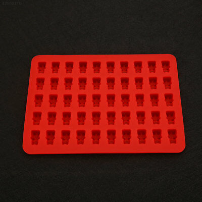 7E6C 50 Holes Small Bear Gummy Candy Ice Tray Silicone Mold DIY Jelly Mould