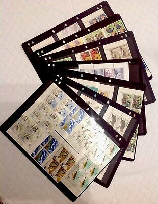 Japanese Stamps - 7 Pages - Mainly Blocks Of 4 - MUH