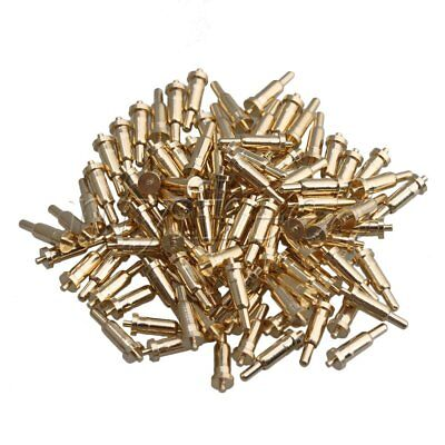 100pcs 2mm Pin Head Spring Test Probes Copper Pogo Pins Cusp Spear for Testing