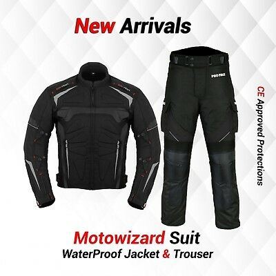 Motorcycle Motorbike Racing Suit Waterproof Textile Jacket Trouser CE Armours