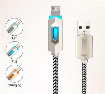 LED USB Charger Cable for iPhone 8 7 6 6S PLUS X 5S SE 5 iPad Data Original Wire