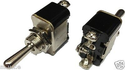 12V Heavy Duty Flash//Off//Flash Spring Loaded Metal Toggle Flick Switch 25A K853 ROBINSON