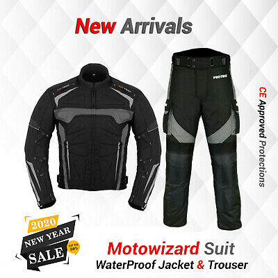 Men's Extra CE Armour Motorbike Motorcycle Riding Suit Waterproof Jacket Trouser