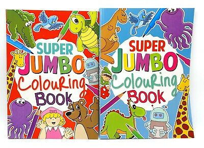 A4 Super Jumbo Kids Colouring Book Travel Fun Animal Art Craft Creative Hobby