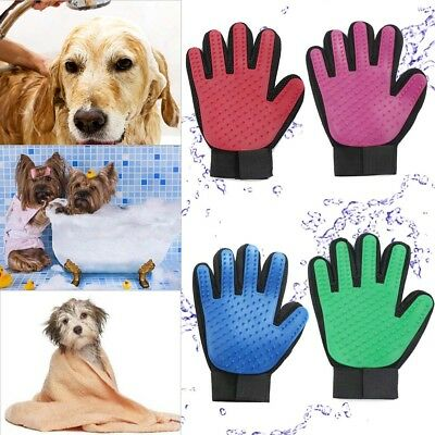 Pet Dog Grooming Cleaning Glove Deshedding Hair Removal Massage Brush Nice