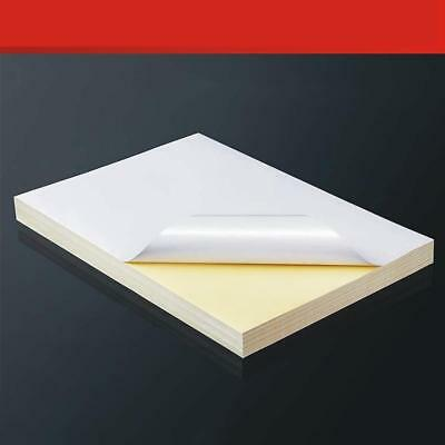 Self Adhesive Blank A4 White Vinyl Sticker Label Paper For Laser Printer