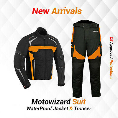 Motorbike Jacket Cordura Trouser Pant Waterproof Motorcycle Biker Racing Suit