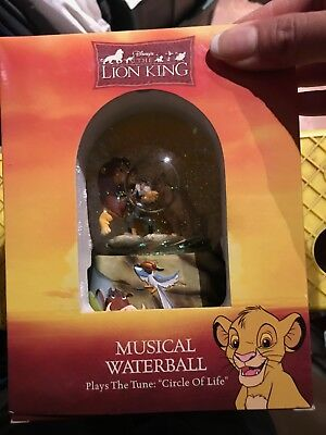 Brand New In Box Disney Lion King Snowglobe Musical Enesco 1994 Circle of Life