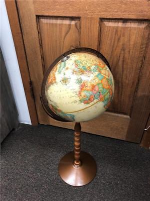 "Vintage Repogle 12"" World Classic 32"" tall floor globe on wood and metal base"