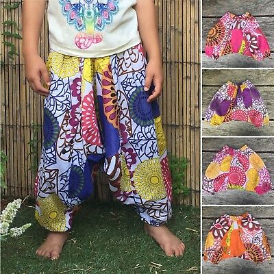Girls Boys kids hmong harem pants baggy hippy hippie boho trousers 3-4 years