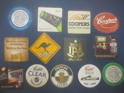 13 different COOPERS Brewery South Australia Issued  BEER COASTERS