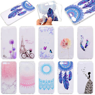 For ASUS Zenfone 3 4 Max Ultra Slim Soft TPU Silicone Painted Back Case Cover