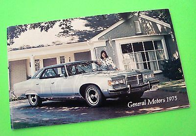 scarce 1975 GENERAL MOTORS ALL MAKES Buick CADILLAC Chevy OLDS Campers 40-p XLNT