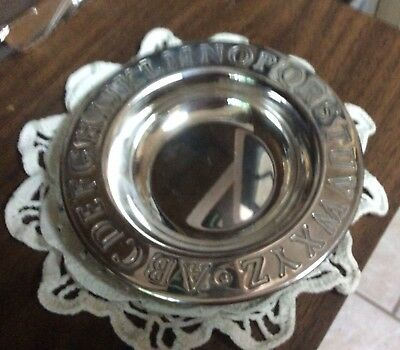 """Lunt ALPHABET Silverplated 6 1/2"""" BABY/CHILD CEREAL BOWL"""