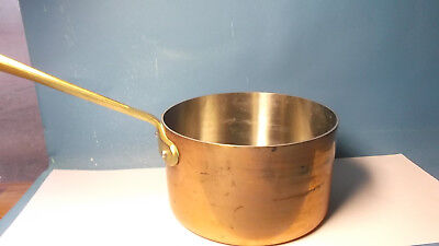 "Vintage French 8"" Copper Sauce Pot Pan Cast Iron Handle"" Copper Chef """