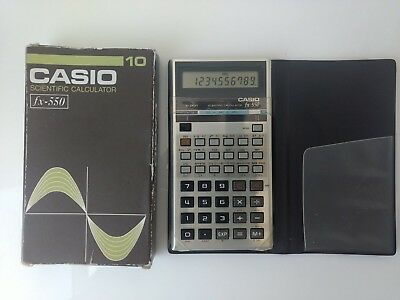 Vintage Casio FX-550S Scientific Calculator With Case and box Working