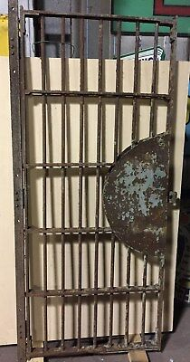 Antique Vintage Jail Prison Cell Door