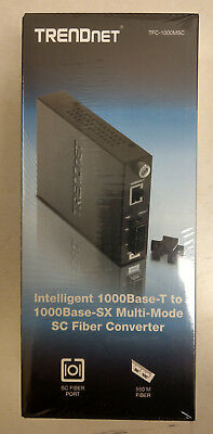 NEW TFC-1000MSC TRENDnet 1000Base-T to 1000Base-SX Multi-Mode SC Fiber Converter