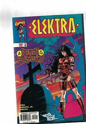 Marvel Comic  Elektra No 1 4 Jan  1997 A death in the Family $1.99 USA