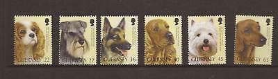 Guernsey 2001 Dogs Mnh Set Of  Stamps