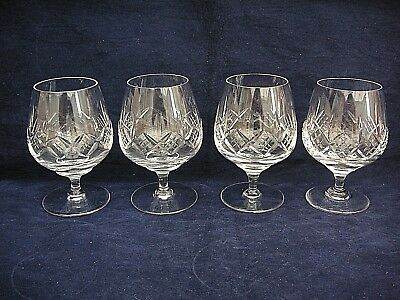 4 x STUART CRYSTAL GLENGARRY CUT BRANDY /GLASSES SIGNED