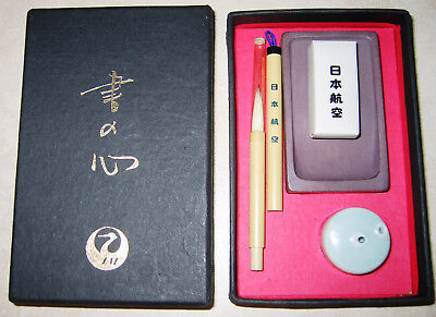 1970s Japan Airlines First Class Souvenir Calligraphy Set - Sho No Kokoro