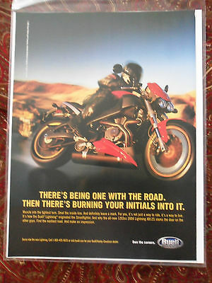 2003 Print Ad BUELL Motorcycle ~ Burning Your Initials Into The Road