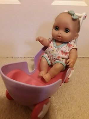 Berenguer Chubby baby doll 8 inch With Stroller