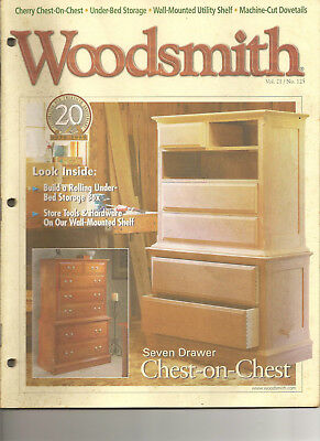 Woodsmith Magazine Oct 1999 Chest-on-Chest Under-Bed Storage Tips & Techniques