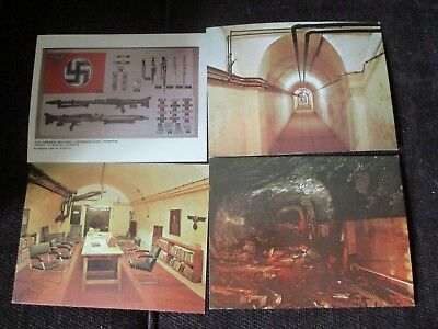 4 Collectable Vintage Postcards German Military Hospital Jersey WW2 colour