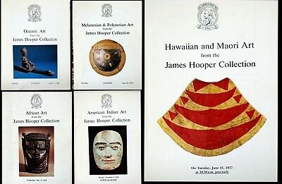 Christies Set Of 5 James Hooper Collection African, Oceanic Polynesian Auction